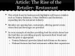 article the rise of the retailer restaurant