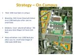 strategy on campus