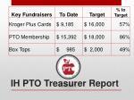 ih pto treasurer report
