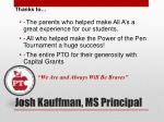 josh kauffman ms principal