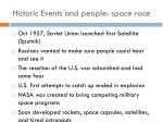 historic events and people space race