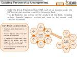 existing partnership arrangement