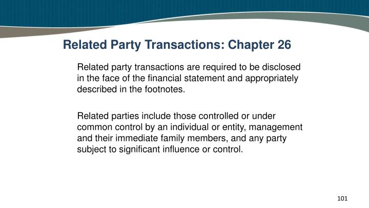 Related Party Transactions: Chapter 26