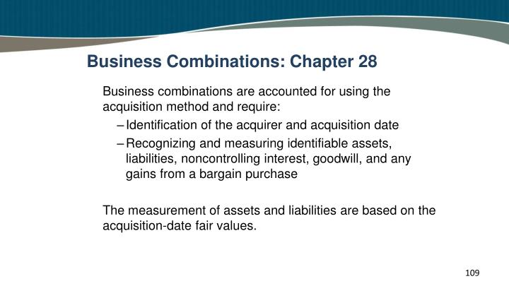 Business Combinations: Chapter 28