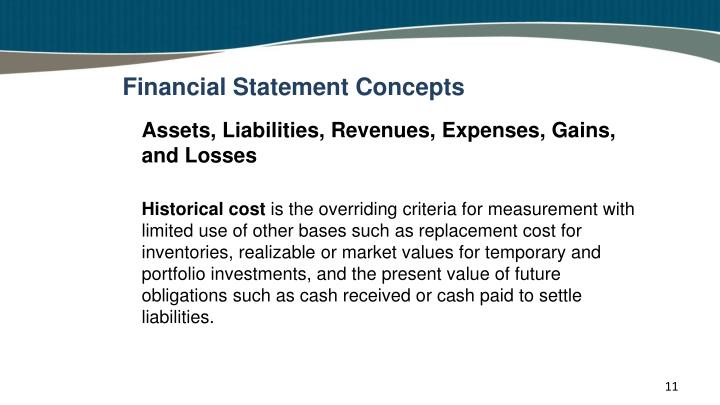 Financial Statement Concepts