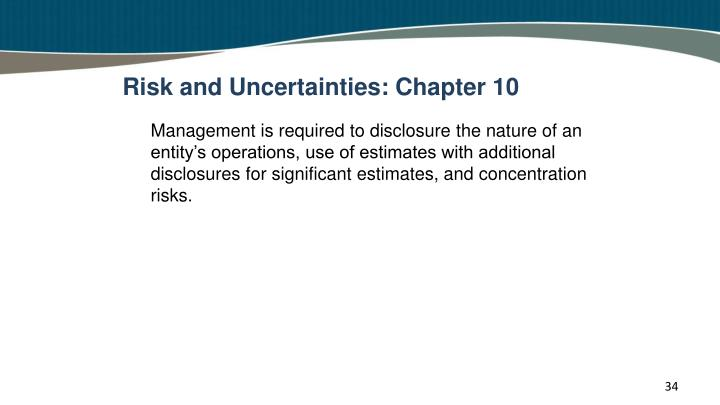 Risk and Uncertainties: Chapter 10