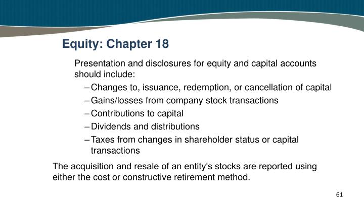 Equity: Chapter 18