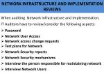 network infrastructure and implementation reviews