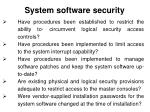 system software security