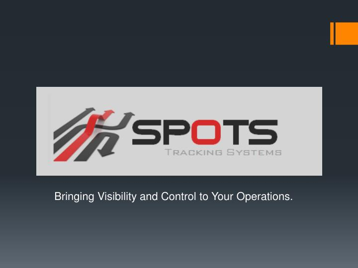 bringing visibility and control to your operations n.