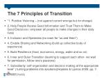 the 7 principles of transition
