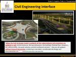 civil engineering interface