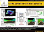 model combined with time schedule