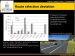 route s election deviation