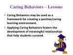 caring behaviors lessons