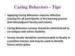 caring behaviors tips