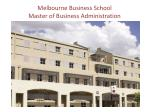 melbourne business school master of business administration