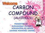 carbon compound alcohols