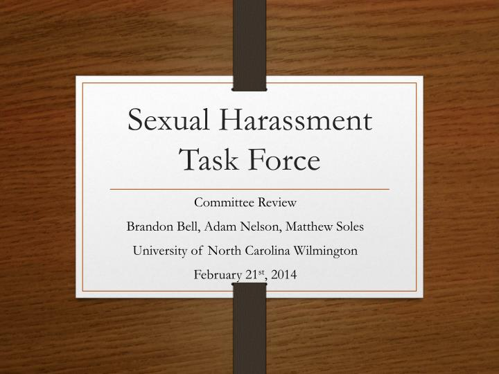 sexual harassment task force n.