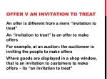 offer v an invitation to treat