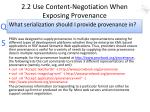 2 2 use content negotiation when exposing provenance