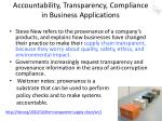 accountability transparency compliance in business applications