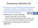 provenance definition 2