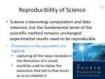reproducibility of science