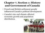 chapter 7 section 1 history and government of canada