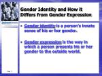 gender identity and how it differs from gender expression