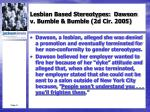 lesbian based stereotypes dawson v bumble bumble 2d cir 2005
