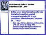 overview of federal gender discrimination laws2
