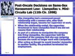 post oncale decisions on same sex harassment law llampallas v mini circuits lab 11th cir 1998