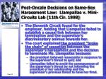 post oncale decisions on same sex harassment law llampallas v mini circuits lab 11th cir 19981