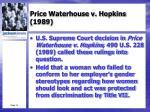 price waterhouse v hopkins 1989