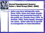 sexual reassignment surgery goins v west group minn 20001