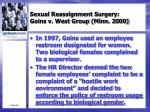 sexual reassignment surgery goins v west group minn 20002