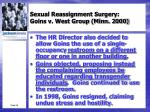 sexual reassignment surgery goins v west group minn 20003