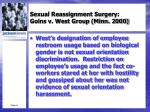 sexual reassignment surgery goins v west group minn 20004