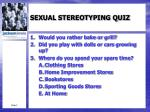 sexual stereotyping quiz