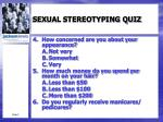 sexual stereotyping quiz1
