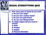 sexual stereotyping quiz2
