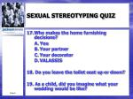 sexual stereotyping quiz7