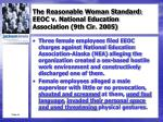 the reasonable woman standard eeoc v national education association 9th cir 20051