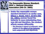 the reasonable woman standard eeoc v national education association 9th cir 20053