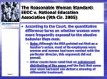 the reasonable woman standard eeoc v national education association 9th cir 20054