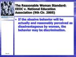 the reasonable woman standard eeoc v national education association 9th cir 20055