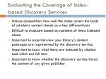 evaluating the coverage of index based discovery services
