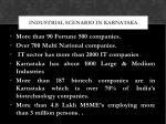 industrial scenario in karnataka