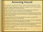 annexing hawaii1
